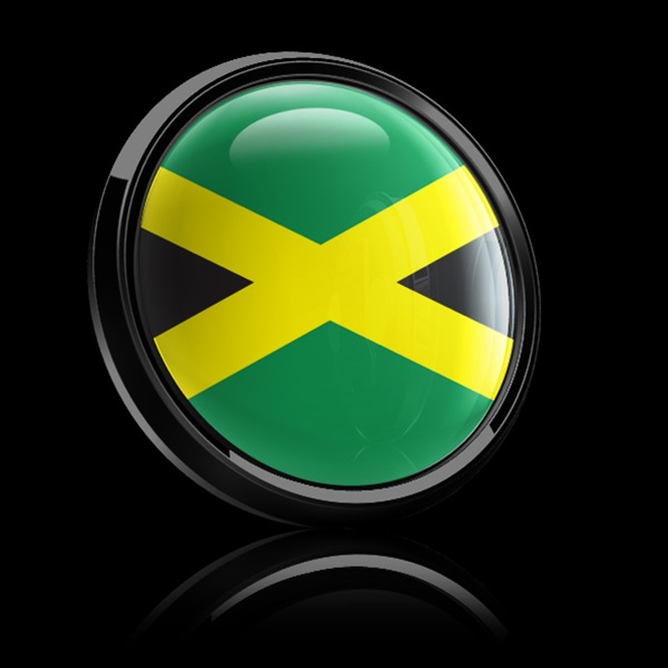 Magnetic Car Grille Dome Badge Flag Jamaica