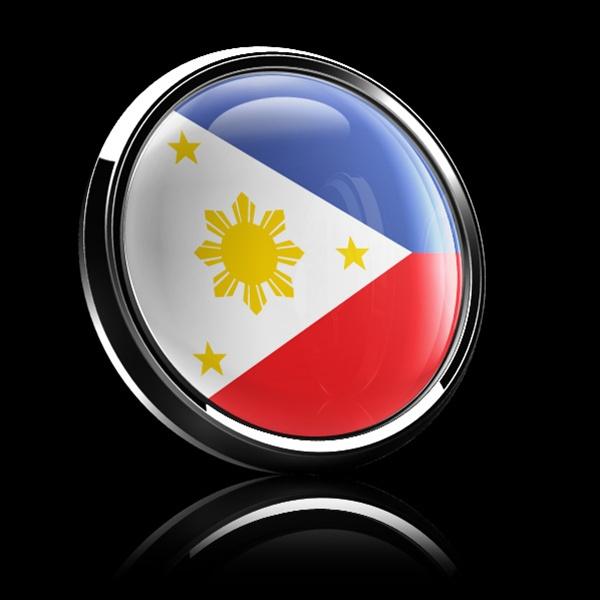 Magnetic Car Grille Dome Badge Flag Philippines