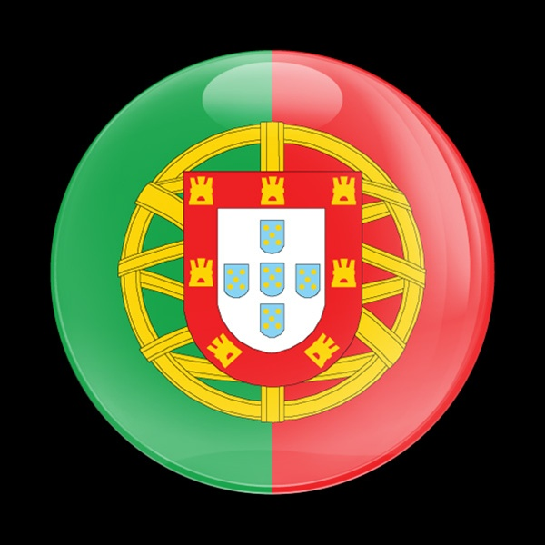 Magnetic Car Grille Dome Badge Flag Portugal
