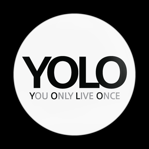Dome Badge Sign Yolo White