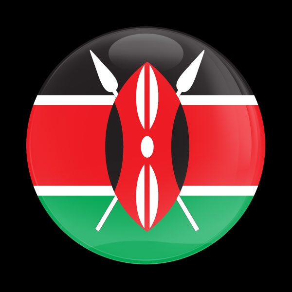 Dome Badge Flag Kenya