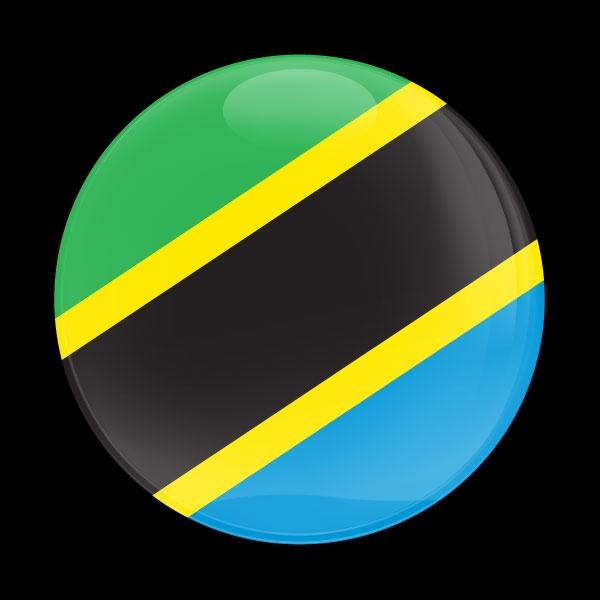 Dome Badge Flag Tanzania
