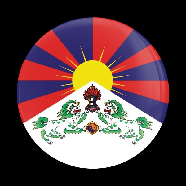 Dome Badge Flag Tibetan