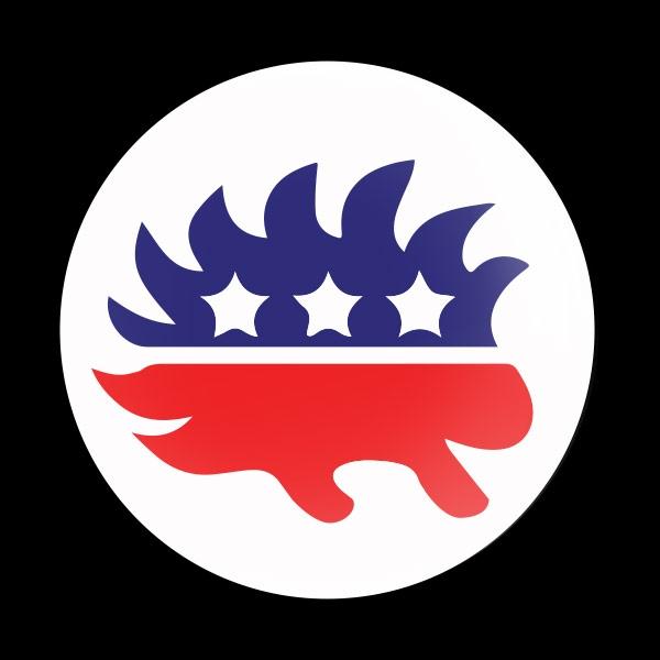 Dome Badge Flag Libertarian Party