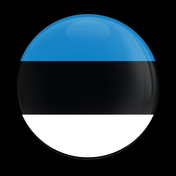 Dome Badge Flag Estonia