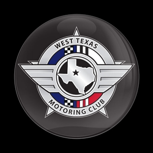 Magnetic Car Grille Dome Badge-West Texas Motoring Club