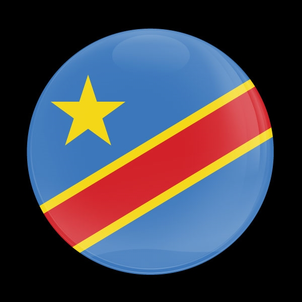 Dome Badge Flag Congo