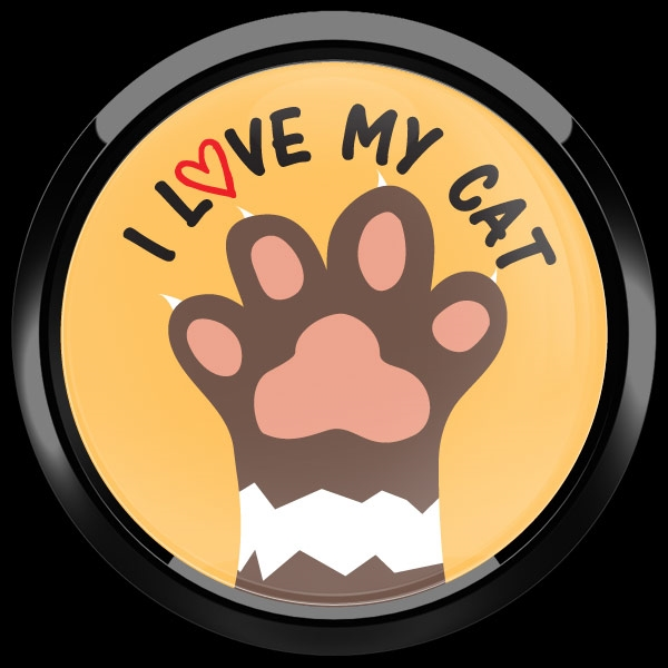 Dome Badge I Love My Cat