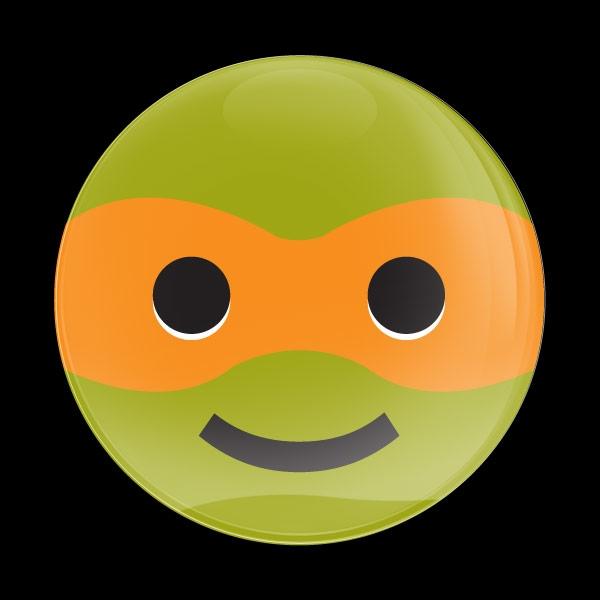 Dome Badge Emoji Ninja Turtle 1