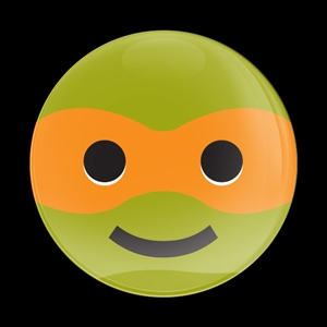 Dome Badge Emoji Ninja Turtle 1
