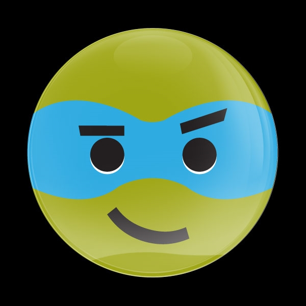 Dome Badge Emoji Ninja Turtle 2