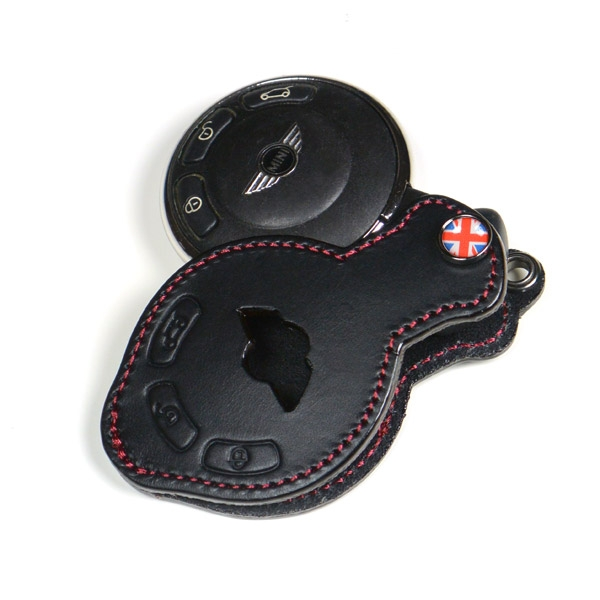 premium leather mini key fob black unionjack. Black Bedroom Furniture Sets. Home Design Ideas