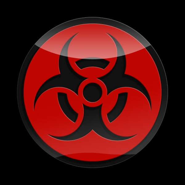 3d Acrylic Magnetic Badge 3d Hazard Red