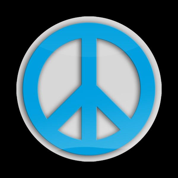 3d Acrylic Magnetic Badge Peace Blue