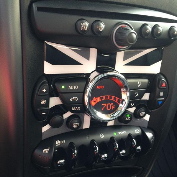 Mini Cooper R56 R57 R58 R59 R60 R61 Radio Badge In Unionjack