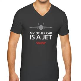 Men's MINI Cooper Short Sleeve Premium V-Neck T-Shirt A Jet