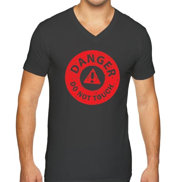 Mens Mini Cooper Short Sleeve Premium V Neck T Shirt Danger
