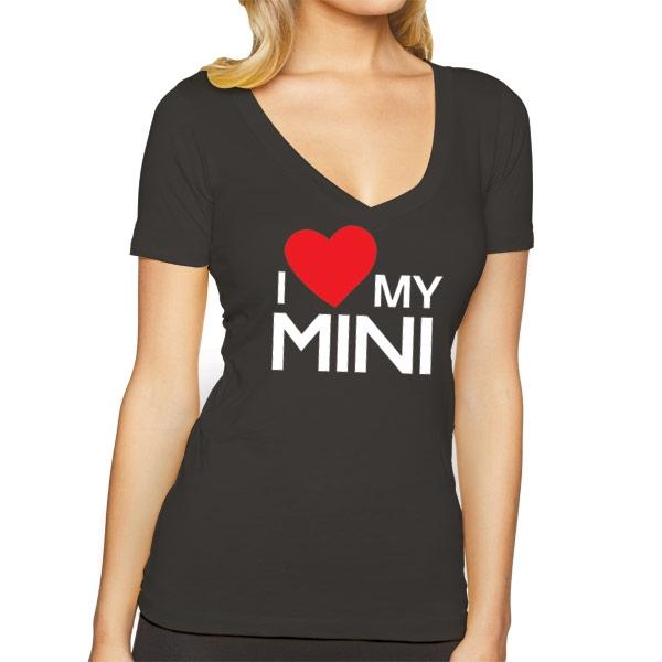 Mini Cooper Usa >> Women's MINI Cooper Short Sleeve Premium V-Neck T-Shirt I ...