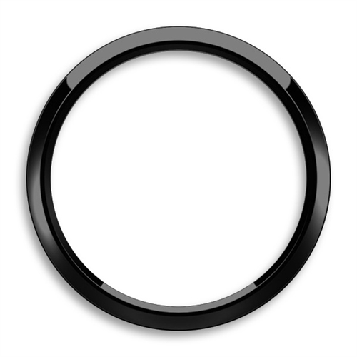 Magnetic Grill Badge Holder Trim Ring Black