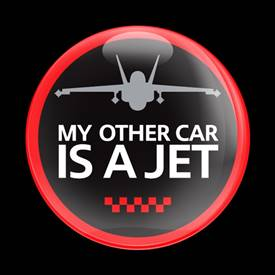 Magnetic Car Grille Dome Badge - A JET