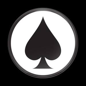 Dome Badge Ace Spade