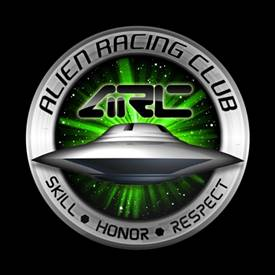 Magnetic Car Grille Dome Badge - Alien Racing Club