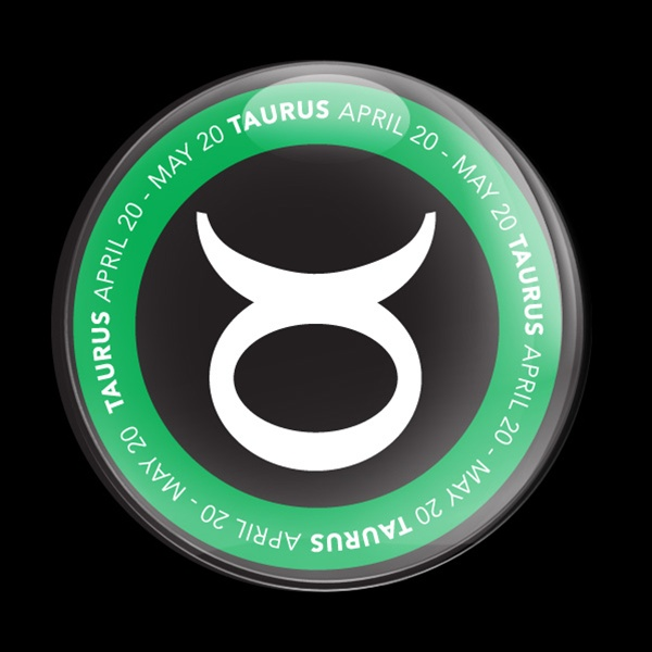 Dome Badge Astrology Taurus