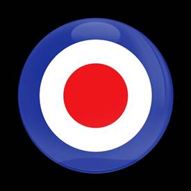 Magnetic Car Grille Dome Badge - British Roundel Air Force
