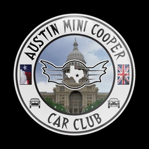 Magnetic Car Grille Dome Badge - Club Austin MINI Cooper