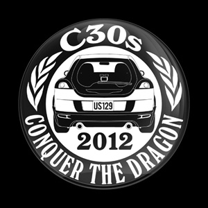 Magnetic Car Grille Dome Badge - CLUB C30S 2012
