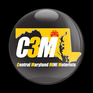 Magnetic Car Grille Dome Badge - CLUB C3M BLACK