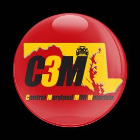 Magnetic Car Grille Dome Badge - CLUB C3M RED