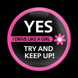 Magnetic Car Grille Dome Badge-Drive like Girl