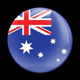 Magnetic Car Grille Dome Badge-Flag Australia