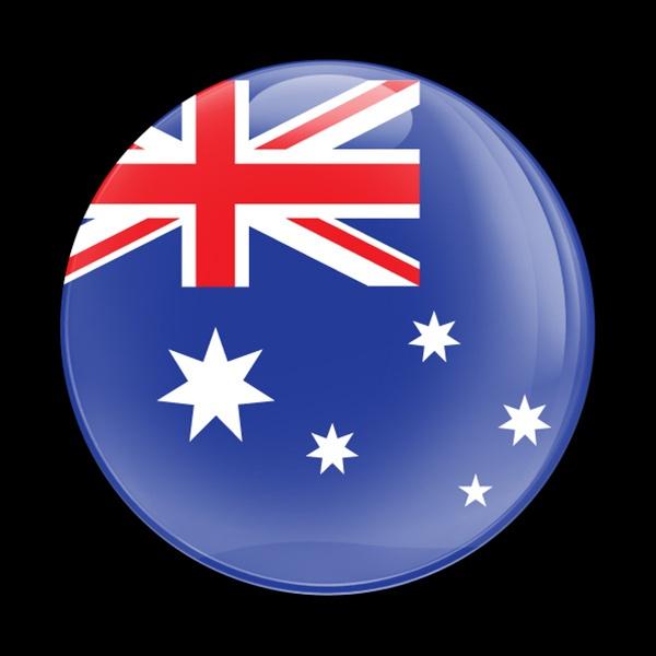 Magnetic Car Grille Dome Badge Flag Australia