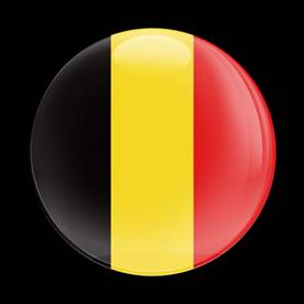 Magnetic Car Grille Dome Badge-Flag Belgium