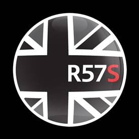Magnetic Car Grille Dome Badge-Flag BlackJack R57S
