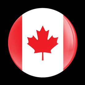 Magnetic Car Grille Dome Badge-Flag Canada