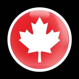 Magnetic Car Grille Dome Badge-Flag Canada 02