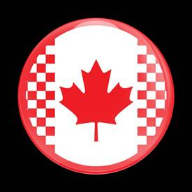 Magnetic Car Grille Dome Badge-Flag Canada MINI