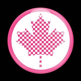Magnetic Car Grille Dome Badge-Flag Canada MINI Pink