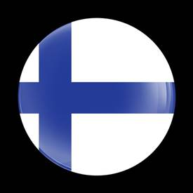 Magnetic Car Grille Dome Badge-Flag Finland