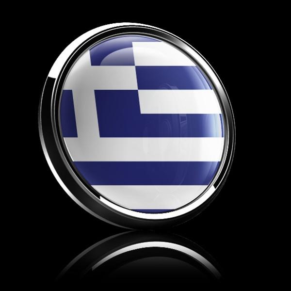 FLAG OF GREECE-CAR GRILLE EMBLEM BADGES