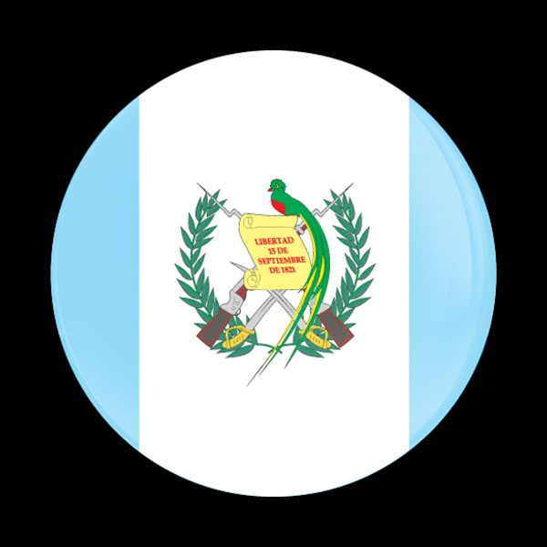 Magnetic Car Grille Dome Badge Flag Guatemala