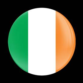 Magnetic Car Grille Dome Badge-Flag Ireland