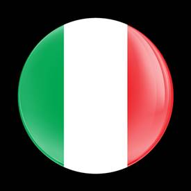 Magnetic Car Grille Dome Badge-Flag Italy