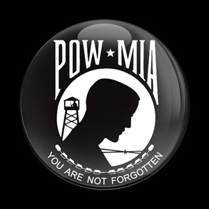Magnetic Car Grille Dome Badge-Flag POW MIA