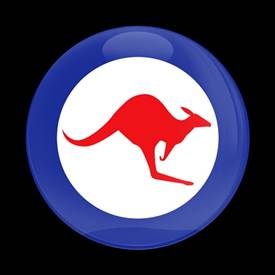 Magnetic Car Grille Dome Badge-Flag Royal Australian Air Force Roundel