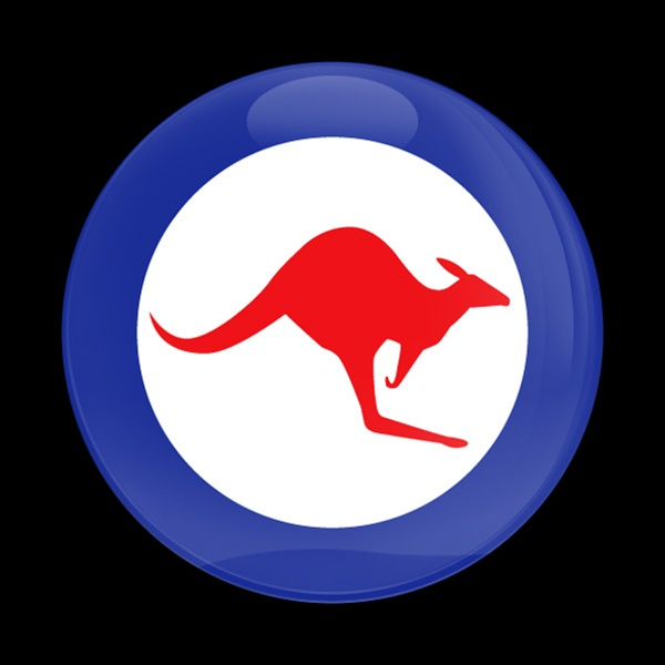 Magnetic Car Grille Dome Badge Flag Royal Australian Air