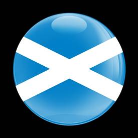 Magnetic Car Grille Dome Badge-Flag Scotland